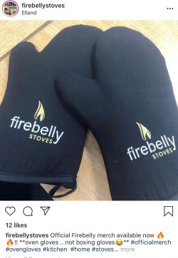 firebelly stove embroidered gloves
