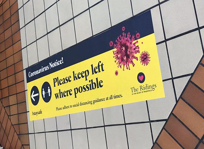 Coronavirus wall graphic