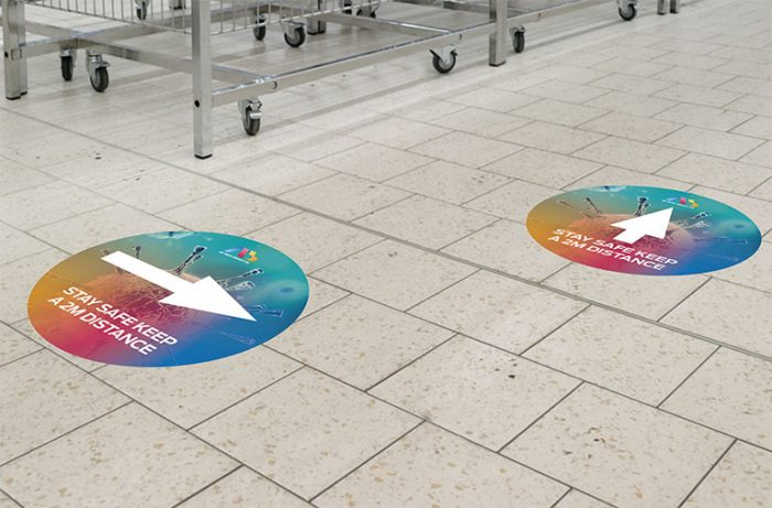 Covid-19 floor and pavement graphics