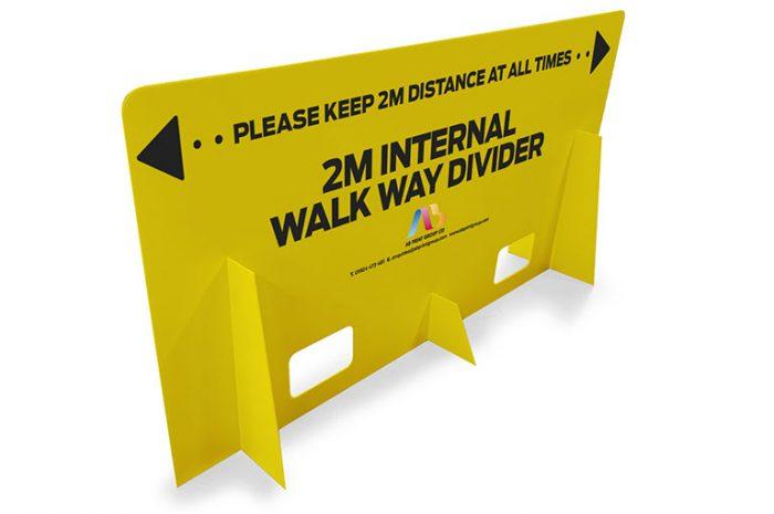 Covid-19 walkway divider