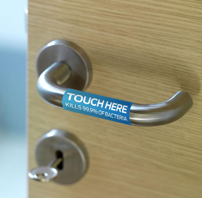 Anti-bacterial door handle