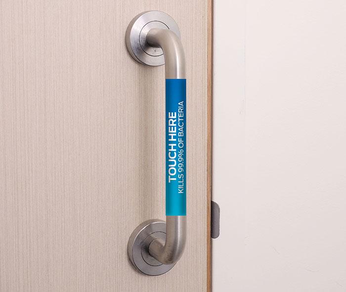 Anti-bacterial pull handle